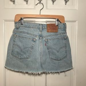 Vintage Levi's Mini Skirt- light wash denim
